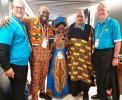 Rotary and The Commonwealth - Tree Planting and Drumming for Peace - Five Ghanaian Drummers added to the Commonwealth flavour of the Drumming for Peace performance