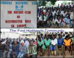 The Chikuku Youth Centre Project -  Zimbabwe - The area was brimming with people who had come from afar to meet the Rotarians from Westminster West.