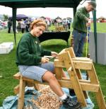 St Asaph country Fayre 2013 - woodturning