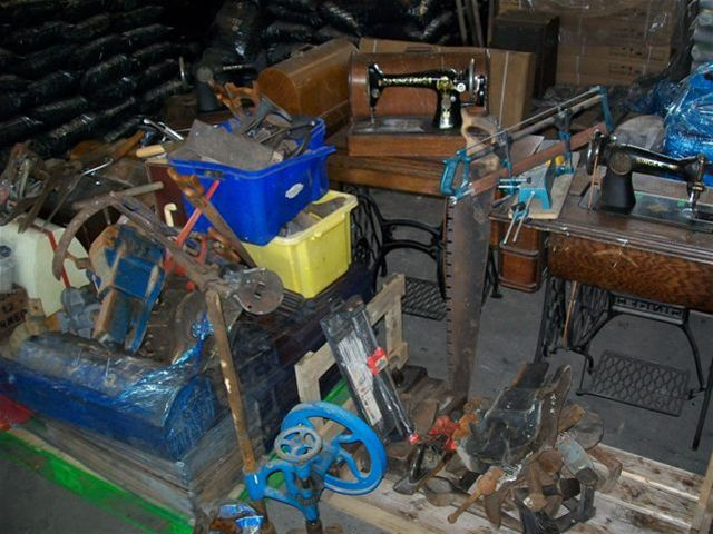 Tools for Self reliance - and everything in store ready for refurbishment before being sent overseas