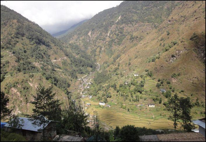 VISIT TO NEPAL - A village in a valley