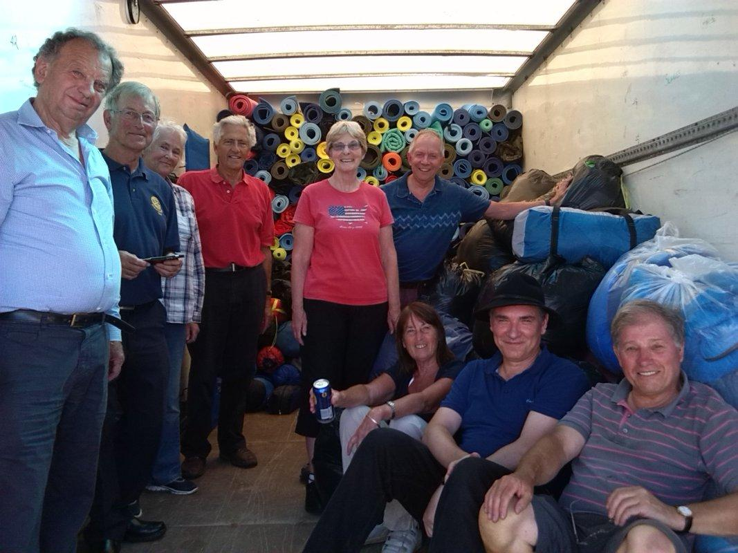 V Festival Clear Up - Most of the group with the spoils - and Charles Storer [ pic by Ron E.]