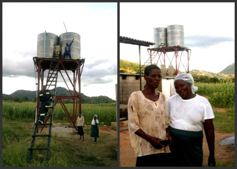 The Chikuku Youth Centre Project -  Zimbabwe - The water tanks are fully operational