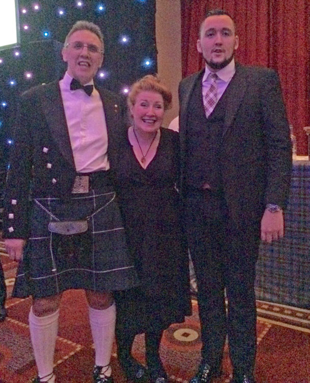 Annual Burns Supper - Davy,-Libby-&-Neil