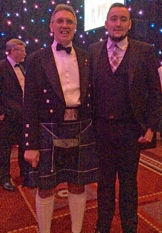 Annual Burns Supper - Davy-&-Neil