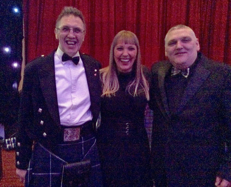 Annual Burns Supper - Davy-with-Sunny-G's-Laura-Docherty-&-Tommy-Twigg