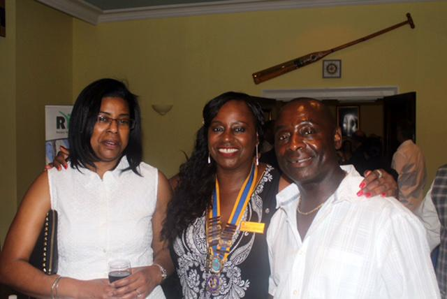 The Club Held An International Evening  - President Angela and Friends