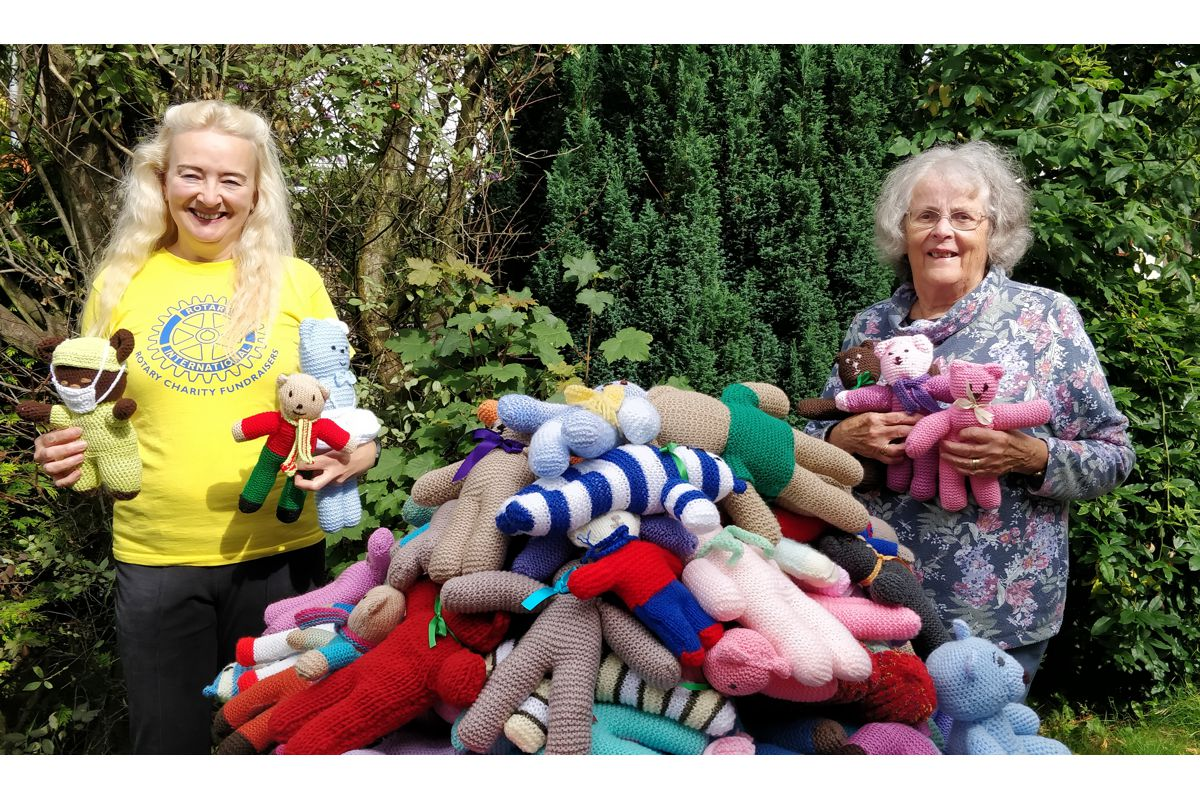Teddy Bears for Buddy Bags Charity - Angela and husband Chris delivered teddies from Whitchurch Rotary Club