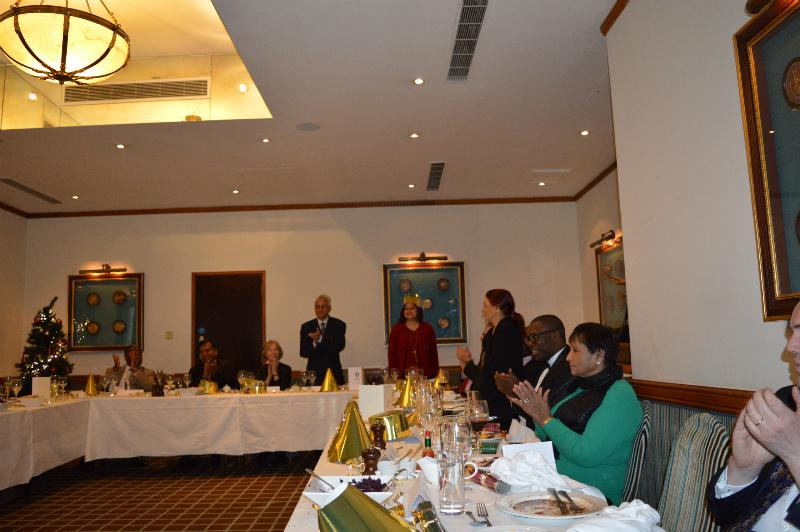 Christmas Lunch - December 2014 - Partners of Rotarians are introduced and given a warm welcome