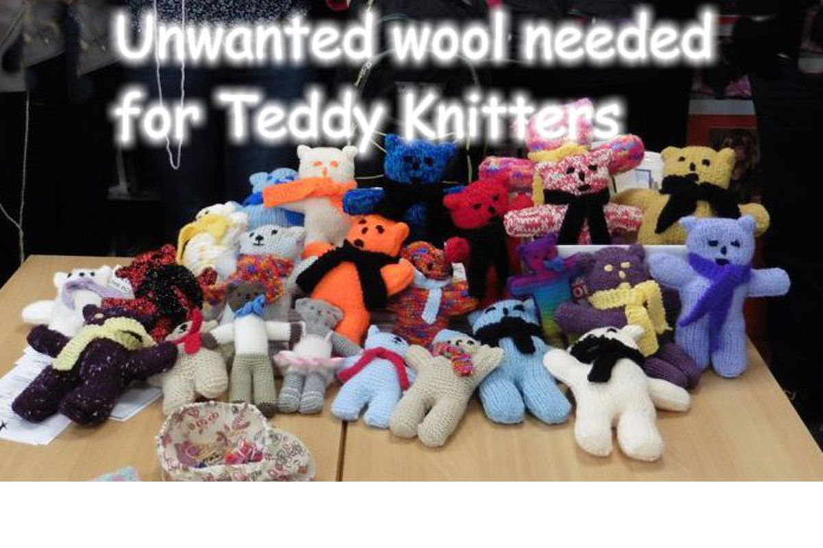 Teddy Bears for Buddy Bags Charity - We need more wool for our very enthusiastic knitters of Teddies