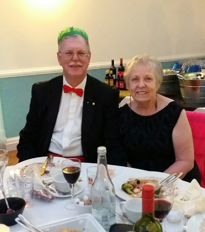 Photos From 2016 / 2017 Rotary Year - xmas party sheila & malcolm
