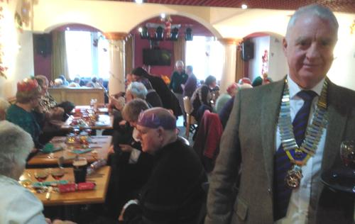 Christmas Party for the town's Seniors - Scene at the Christmas Party