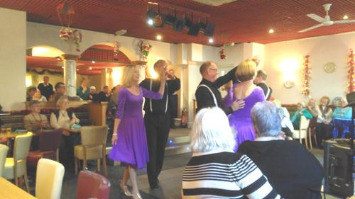 Christmas Party for the town's Seniors - U3A Latin Dancers