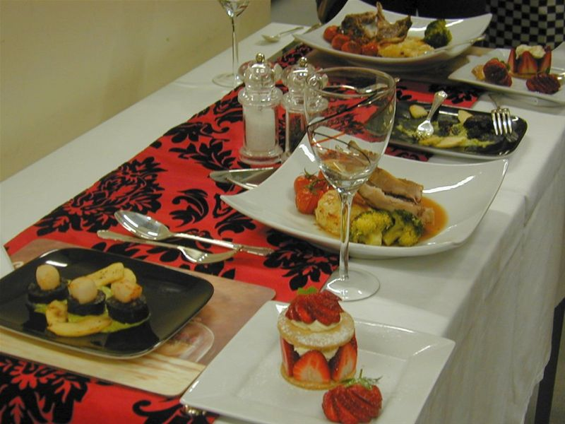 2010 Rotary Young Chef Competition - Catherine's table setting.