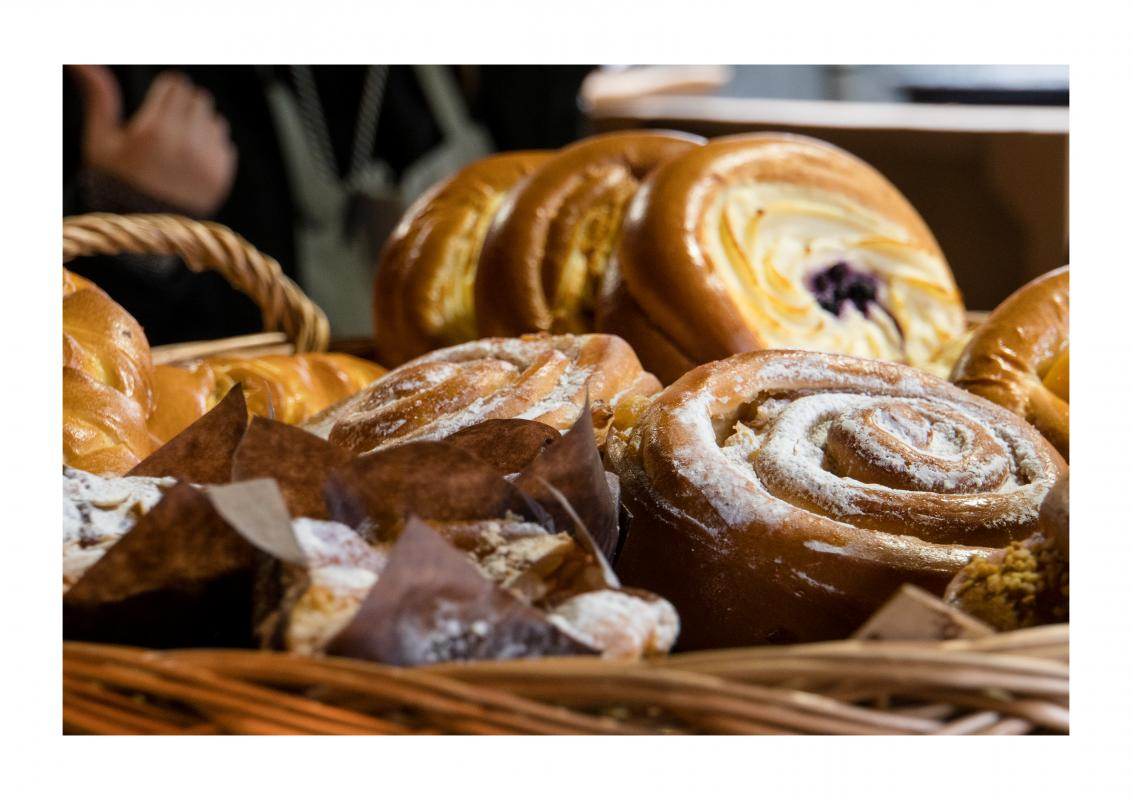 Rotary Young Photographer 2020 RESULTS - Fresh pastries from Borough Market. I had to put the main focus point on the snail pastry