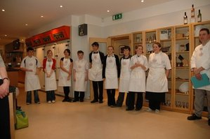 Head of Bettys cookery school Richard Jones (pictured right) with the nine finalists