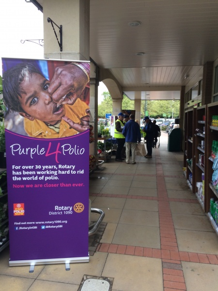 polio pull up banner