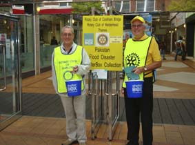 Niall Blair and Derek Smith collect in maidenhead town centre