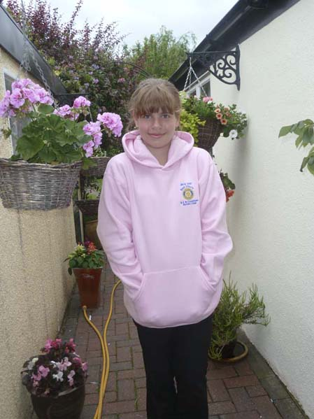 Libby, one of the winners of a Best Efforts hoodie