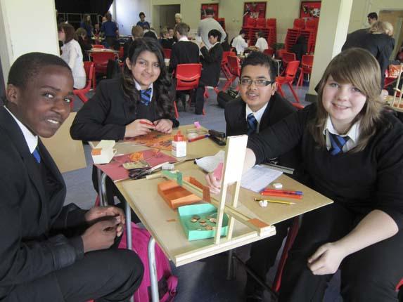 TK, Saba, Hamza and Jasmine from Cressex Community School