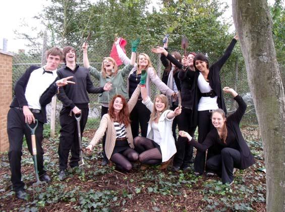 Waingels College crocus planters
