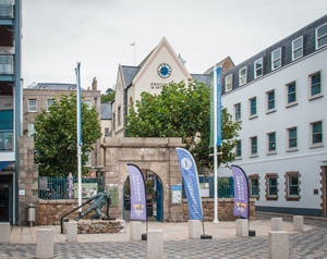 Start and Finish by entrance to Jersey Museum