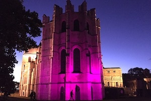 Canterbury Cathedral turns purple