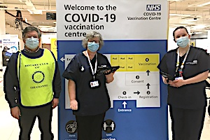 Rotary Club of Folkestone Channel supporting local vaccination centres