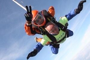 Eddie Prescott from Tonbridge Rotary on his ASky Dive