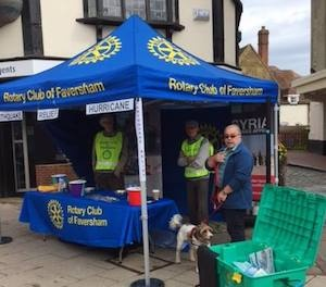 Rotary Club of Faversham collecting for Shelterbox