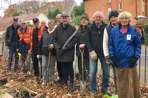 Langley Park & Beckenham clubs planting trees