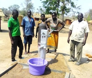 New borehole in Malawi