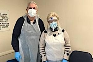 Mark and Linda Garnett of the Rotary Club of Heathfield and Waldron