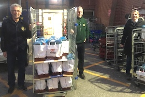 Medway Sunlight Rotary delivering food parcels to Medway Maritime Hospital