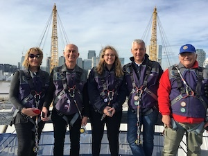 Rotarians Climb the O2 Dome