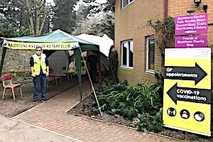 Maidstone Riverside Rotary at Covid Vaccination Centre