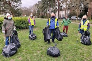 Rotary Club of West Wickham's litter pick