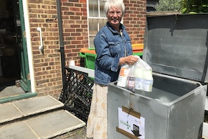 A food donation being made at the Rodmersham drop-off point for Swale Foodbank