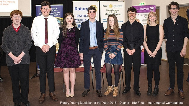 Young Musician District final 2018 - Rotary in Southern Wales