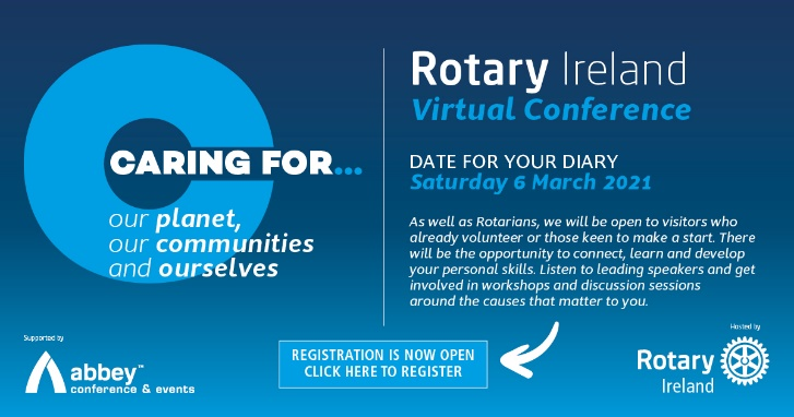 Rotary Ireland Conference Signup Banner