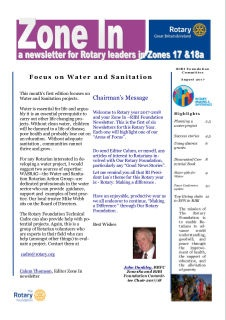 Zone In Newsletter