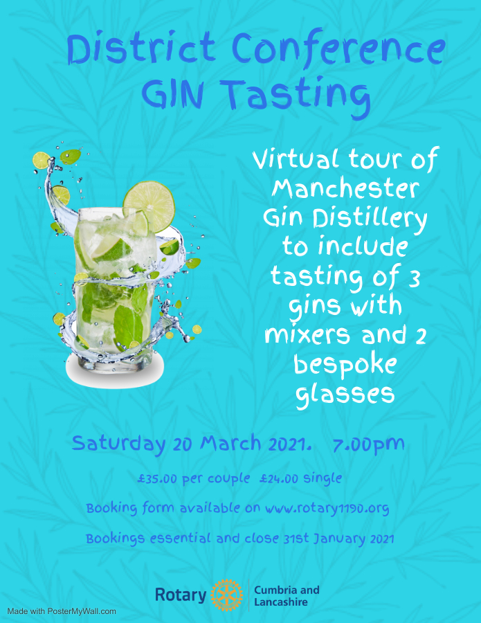 District Conference 2021 Gin Tasting